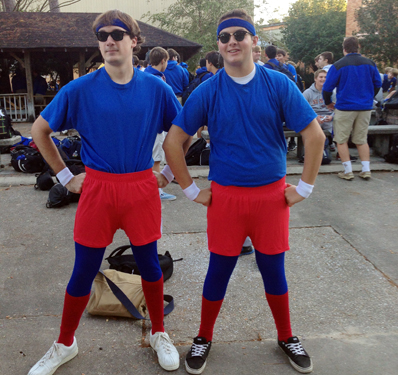 Twin Day Costume Ideas http://thepaperwolf.com/2012/10/11/we-got-spirit-yes-we-do/