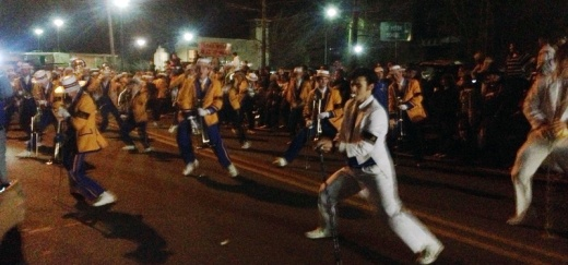 The unique dancing style of the Marching Wolves have made them a Mardi Gras staple and a crowd favorite. (Mystic Krewe of Olympia)