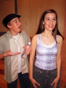 Usnavi (Jonathan Demare) seranades the daydreaming Vanessa (Sarah Seghers)