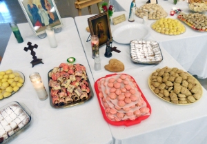 The St. Joseph Altar always includes a variety of Italian pastries in remembrance of the original celebration of thanksgiving.