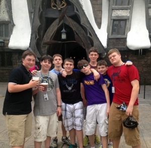 Cadets enjoyed breakfast in The Wizarding World of Harry Potter during their whirlwind trip.