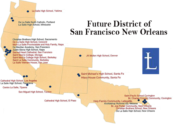 Lasallian Districts Combine to Make District of San Francisco New