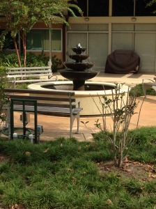 The fountain near the Brother's Residence was a project of a local Eagle Scout.