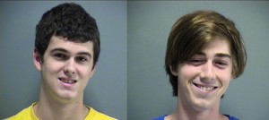 The vandal's mug shots after they were arrested. (Photo courtesy of The Covington Police Department)