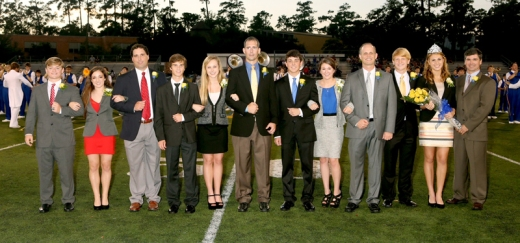 The 2013 SPS homecoming court and their escorts were Daniel Conlin, Olivia Priola, Sean Garcia, Nick Taylor, Hailey Osborn, Roger Keller, Thomas Ruli, Madeline Luke, Jean Charbonnet, Michael Burke, Carley Boyce, and Sage Bourgeois. (photo by Expressions Photography)