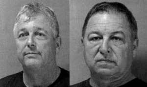 The mugshots of the officials who were arrested.