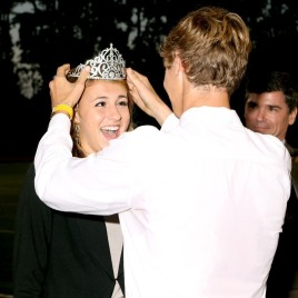 Carley Boyce is crowned homecoming queen