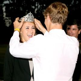 Carley Boyce is crowned homecoming queen