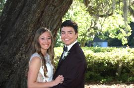 Reid posing for a prom picture with his girlfriend Jenifer Fiorella