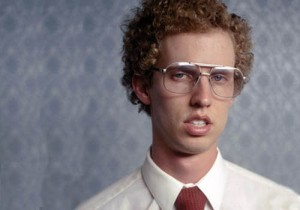 For Halloween next year, Reid will dress like the famous Napoleon Dynamite