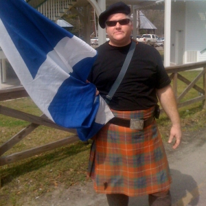 Religion Teacher Robert Simpsons shows his support of Scotland. (photo courtesy Robert Simpson)