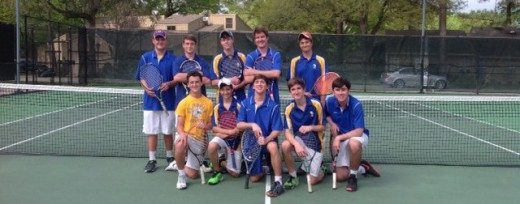 The tennis team is ready to win a state title. (Photo credit: Brother Ken)