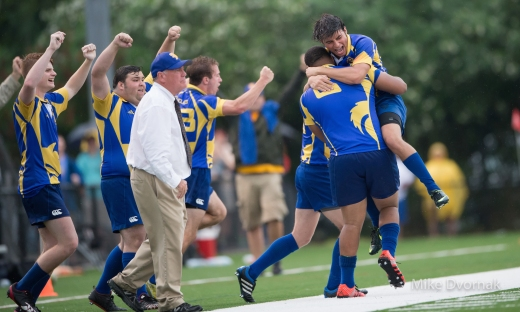 the St.Paul's Rugby team celebrate after the winning kick went in. (Photo Credit: Michael Dvornak)