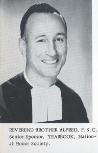 Brother Alfred's life at St. Paul's is almost unparalleled by anyone on campus. (Photo from The Conifer 1956)