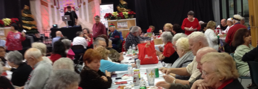 The senior center in Mandeville celebrates Christmas with its residents (Photo from coastseniors.org)
