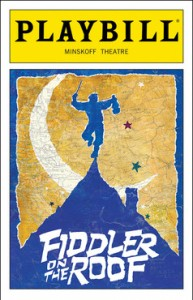 "The playbill of ""Fiddler on the Roof"" as performed in Broadway Theatre in New York City. (Photo: Playbill.com)"