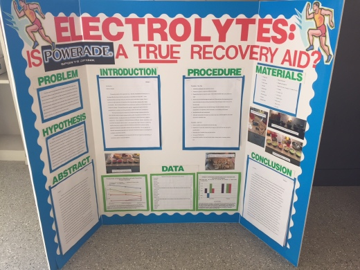 A Science Fair Project Poster Explains Whether Powerade Is True Recovery Aid Photo By Ben Davidson